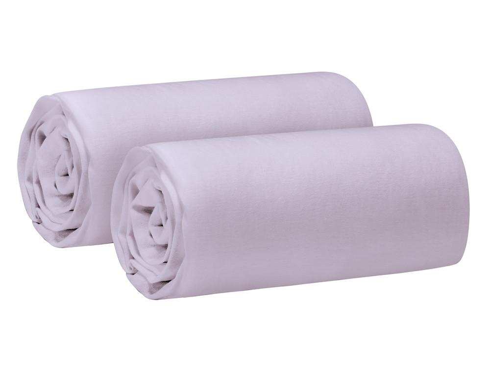 Lot 2 draps-housses souples et résistants Coton fin