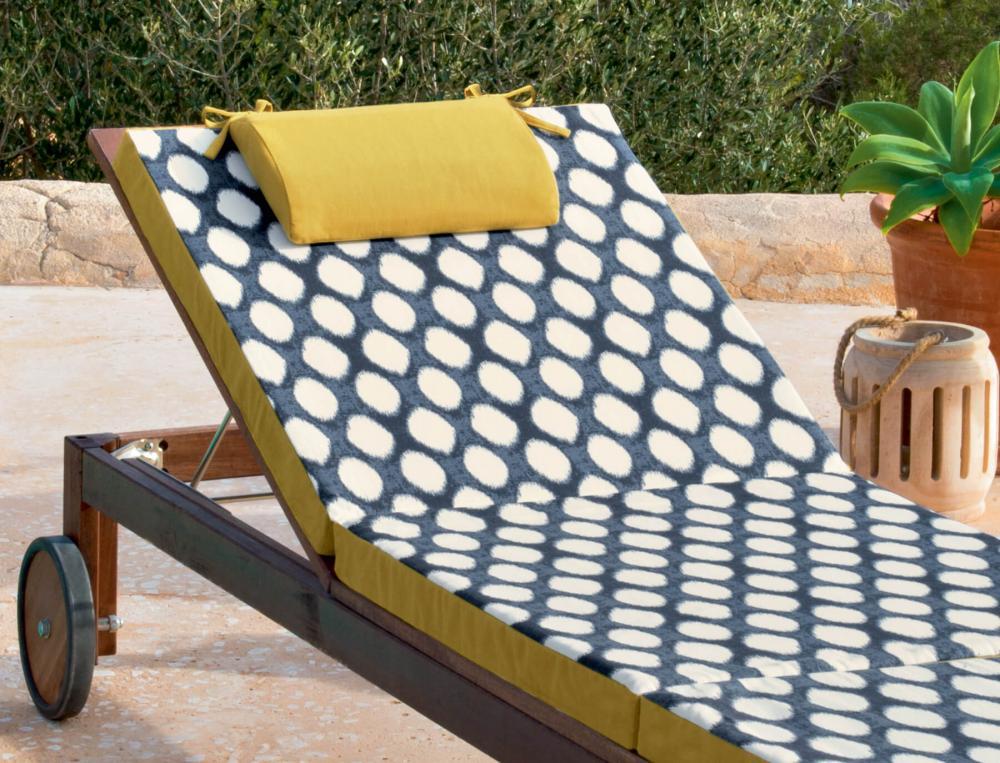 Matelas bain de soleil imprimé Les galets de Collioure