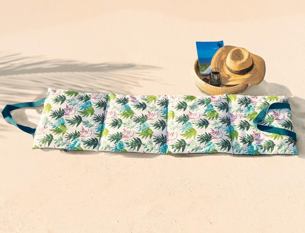 Matelas de plage pliable imprimé À Tahiti