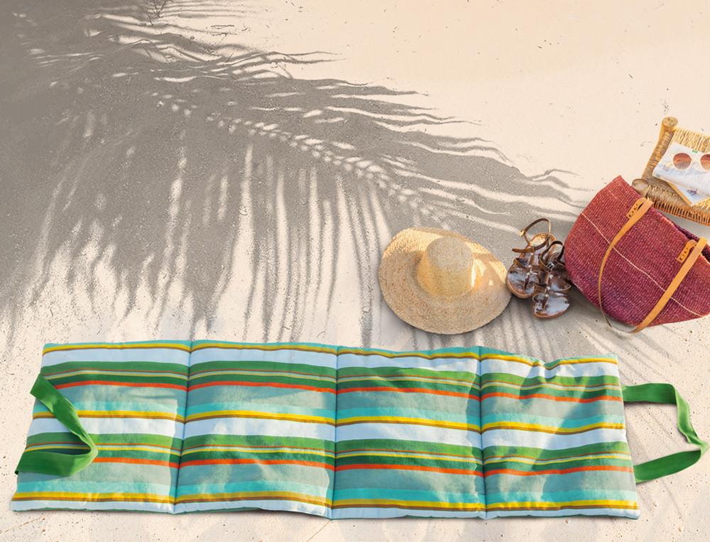 Matelas de plage pliable tissé-teint Sur la Durance