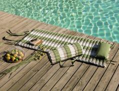 Matelas de sol enveloppe 100% coton  À l'ombre des canisses