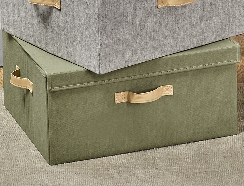 Mehrzweckbox mit Henkeln aus Kunstleder