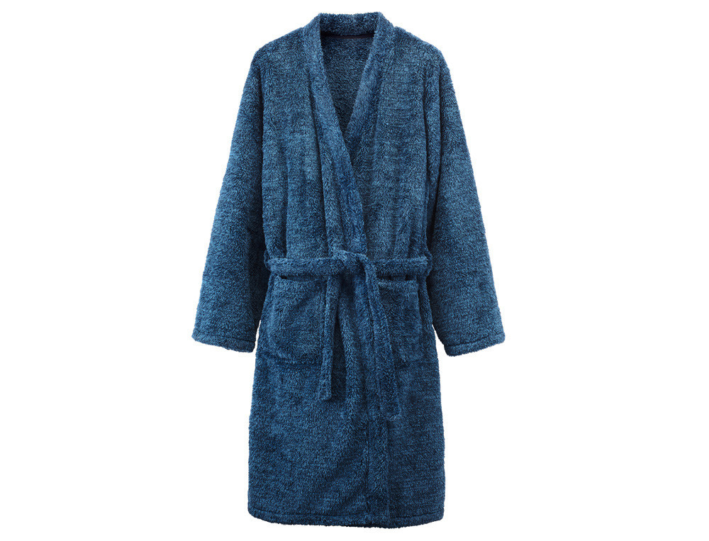 Morgenmantel Morgenblau Fleece Linvosges