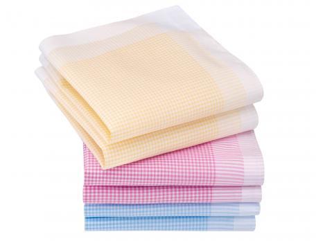 6 mouchoirs femme 100% coton Édith