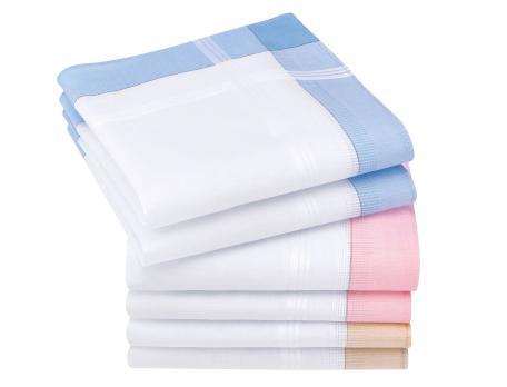6 mouchoirs femme 100% coton Émilie