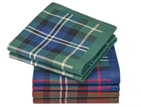 6 mouchoirs motifs écossais homme Charles