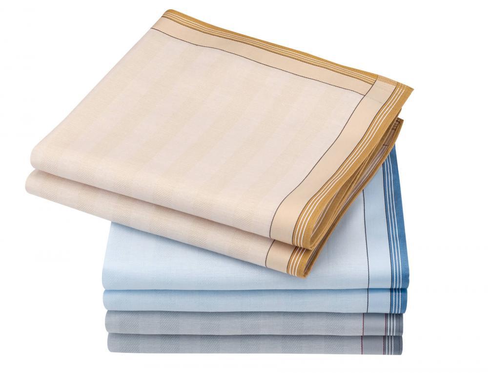6 mouchoirs homme 100% coton Paul