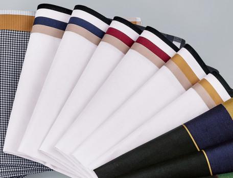 6 mouchoirs 100% coton peigné Plumes
