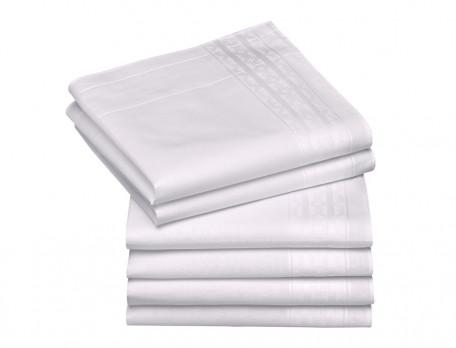 6 mouchoirs blancs 100% coton peigné Risette