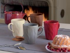 4 mugs céramique Maille