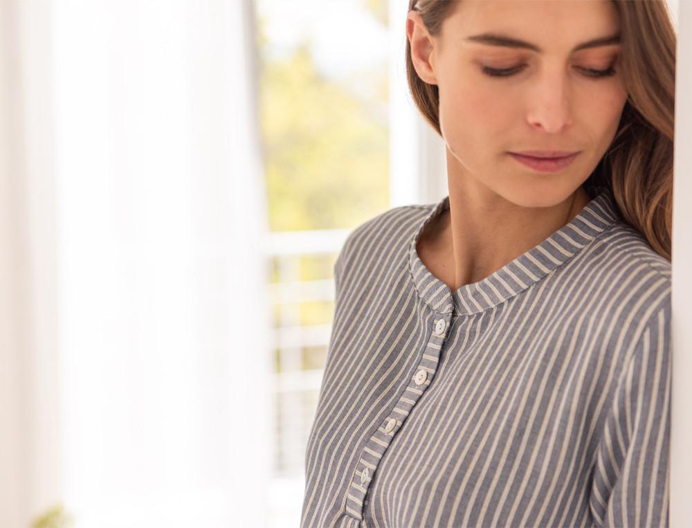 Nachthemd Blauschimmer  Linvosges