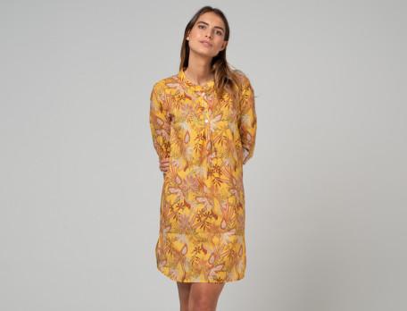 Nachthemd gelb aus Baumwolle