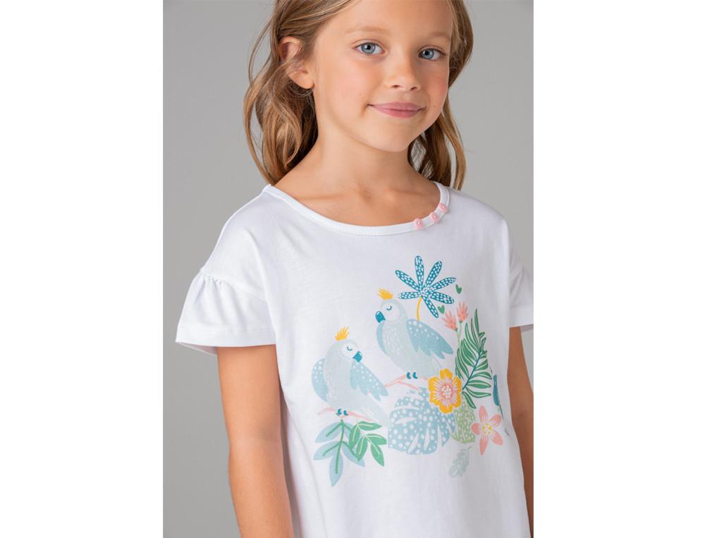 Nachthemd Kleiner Papagei Baumwolle Linvosges