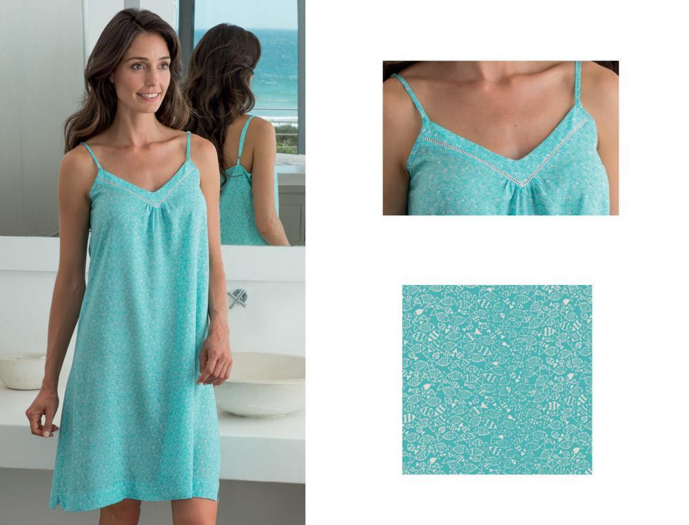 Nachthemd Meeresrauschen Baumwolle.