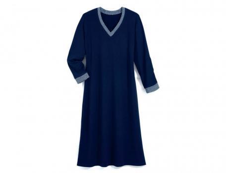 Nachthemd Mitternachtsblau Viskose