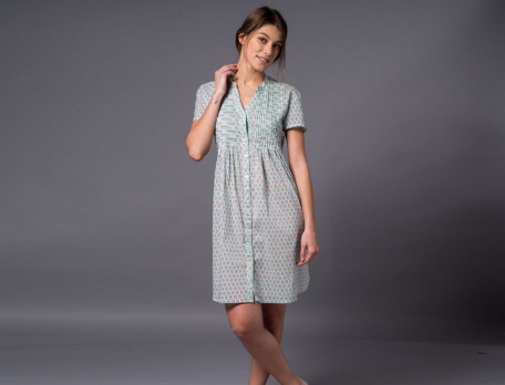 Nachthemd Natur-Pur Baumwolle Linvosges