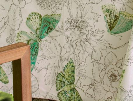 Nappe imprimée enduite Jardin des papillons
