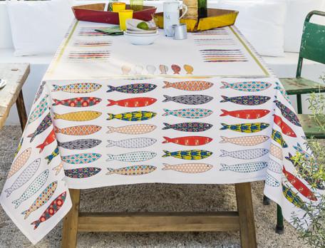 Nappe imprimée Les sardines