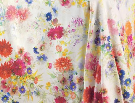 Nappe imprimée Palette fleurie