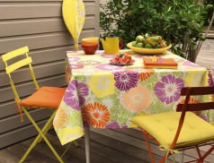 Coussins de chaise et serviettes de table Orangeade
