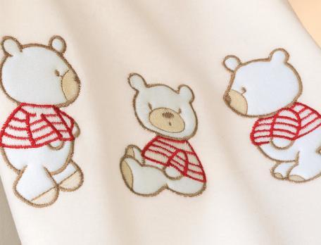 Couverture bébé P'tit ourson - Linvosges