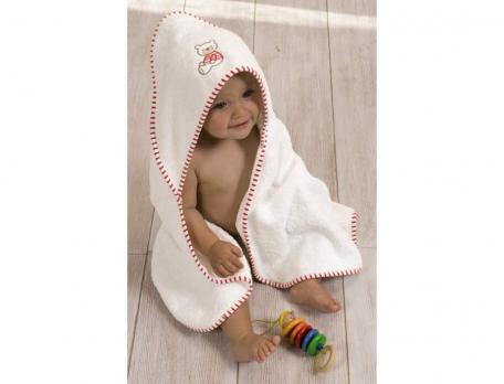 Cape de bain bébé P'tit Ourson