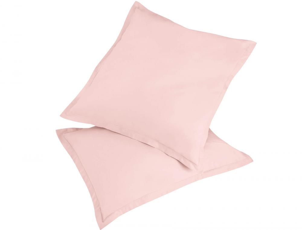 1 taie d'oreiller Coton fin rose achetée = 1 taie identique offerte