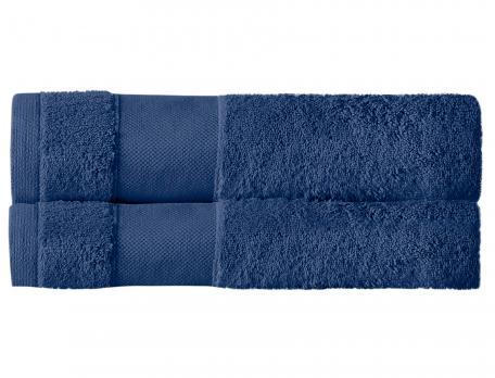 Pack 2 draps de bain bleu marin Parenthèse