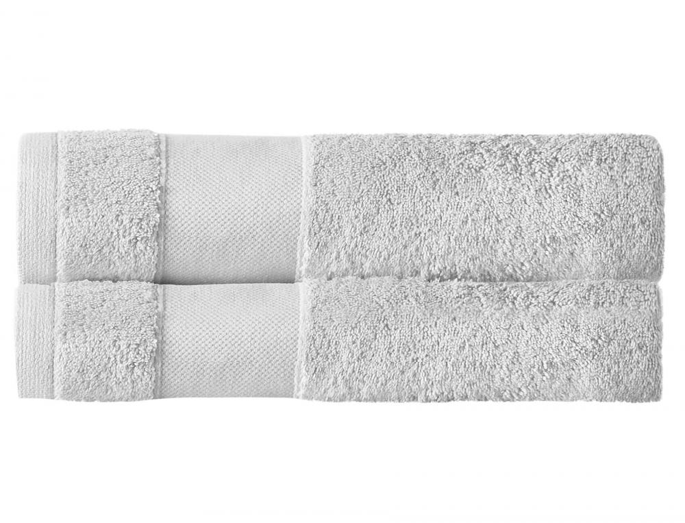 Pack 2 draps de bain gris nacre Parenthèse