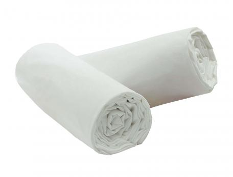 Pack 2 draps-housse Percale blanc