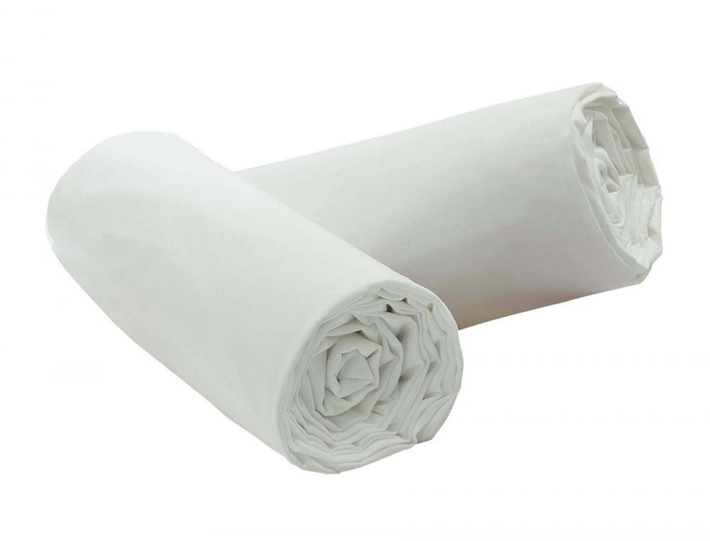 Pack draps housse Percale blanc   Linvosges
