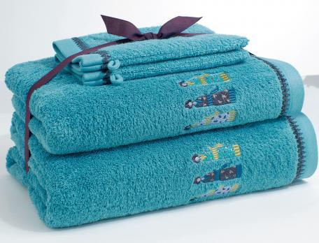 Pack Linge de bain kimonos brodé 2 gants