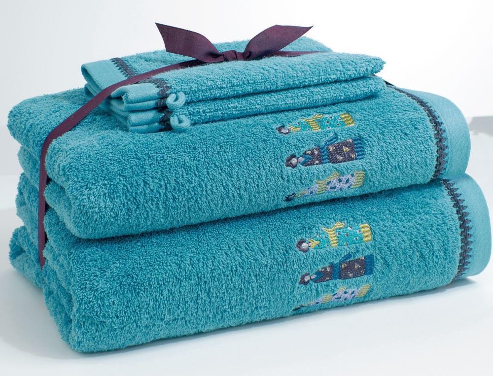 Pack Linge de toilette kimonos brodé 2 gants