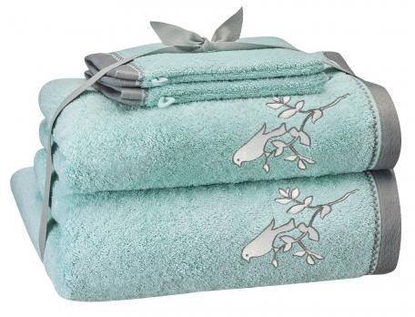 Pack linge de bain brodé Dans les nuages