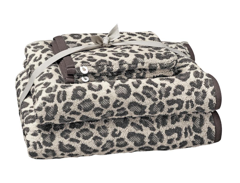 1 drap de bain 70x140 cm + 1 serviette 50x100 cm + 2 gants 16x21 cm gris Douce évasion