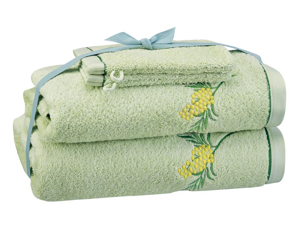 Pack linge de bain brodé Villa mimosa