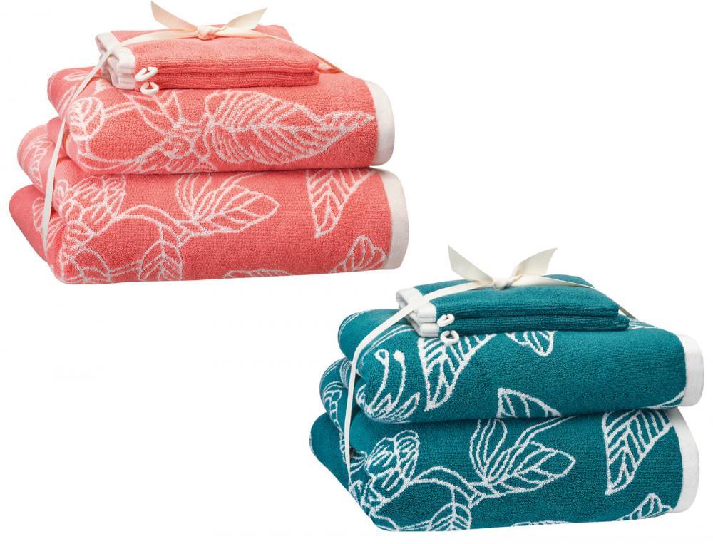 Pack linge de bain jacquard Bouquet d'émotions
