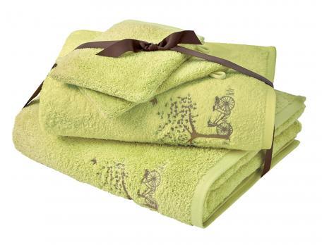 Pack Linge de bain 100% coton 600g/m2 Dimanche à la campagne
