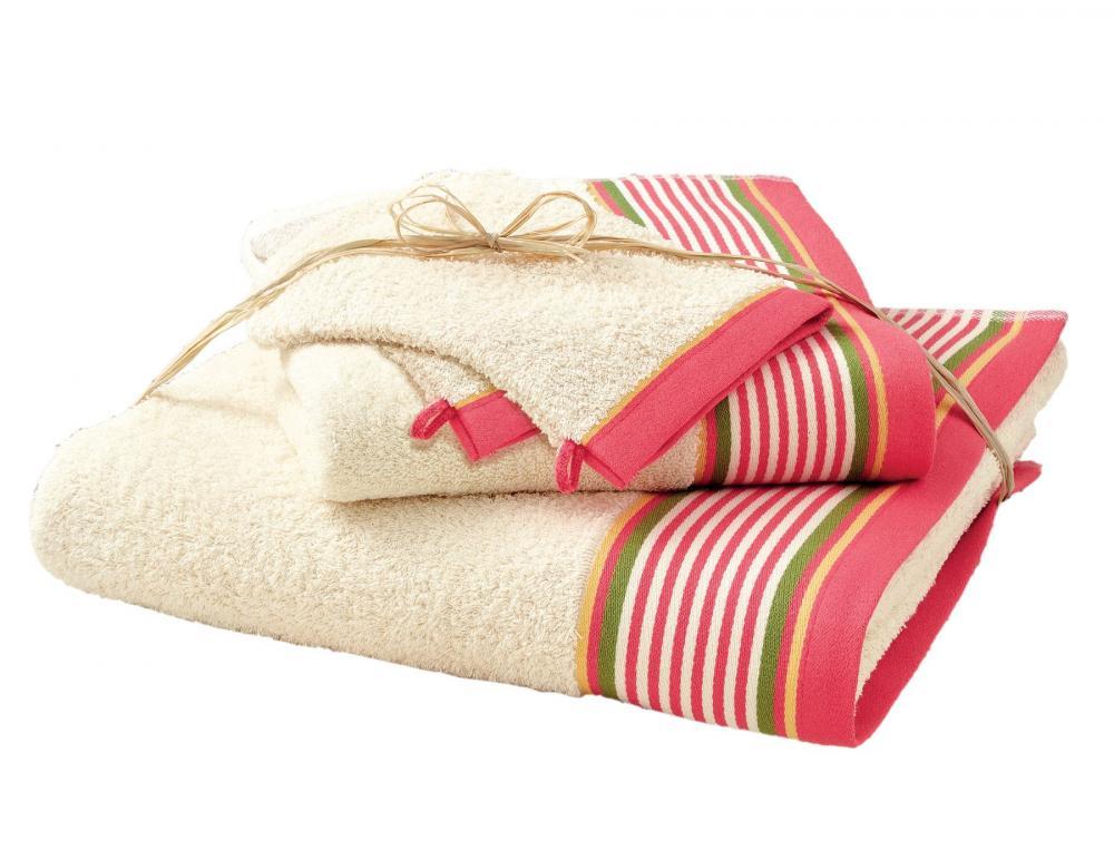 Pack Linge de bain ivoire Maison Basque 4 pièces