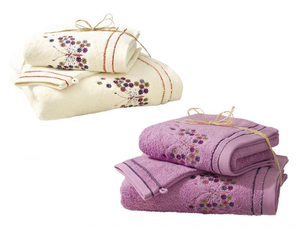 Pack linge de toilette  2 gants La serre aux papillons