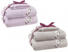 Pack linge de toilette brodé Les magnolias