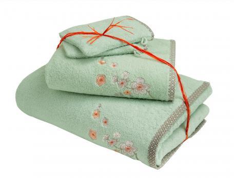 Pack Linge de bain brodé Nuit de Jade