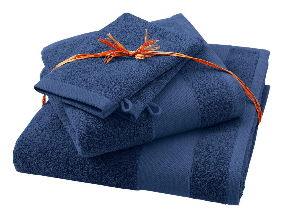 Pack linge de toilette Parenthèse bleu marin 100% coton