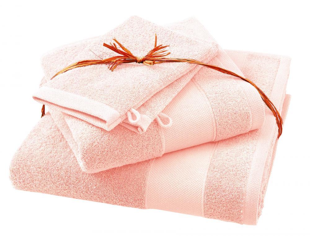 Pack linge de bain Parenthèse peau de pêche 100% coton