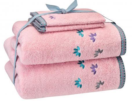 Pack linge de bain gris perle Perles de rosée