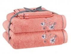 Pack linge de toilette brodé Pommier du Japon