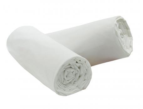 Lot draps-housses Percale coton 100% coton