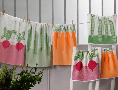 Pack 3 torchons  100% coton et 3 essuie-mains Petits Légumes