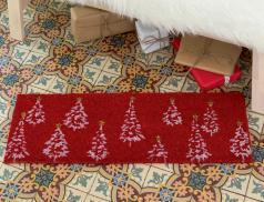 Paillasson sapin fibre de coco Noël à Londres