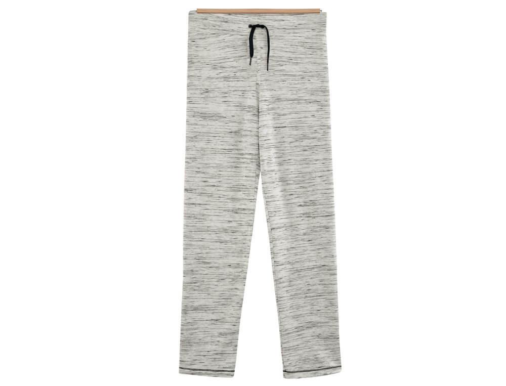 Pantalon molleton chiné noir et blanc En contraste